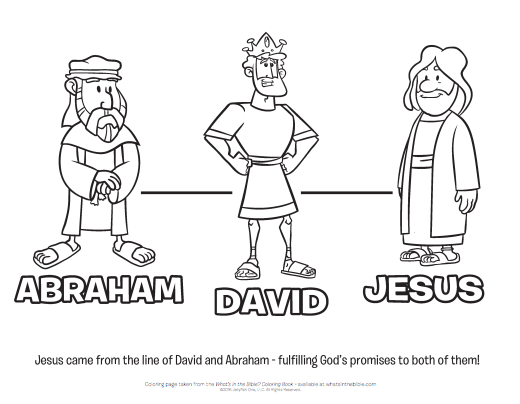 Download A Coloring Page Of Abraham David And Jesus Here