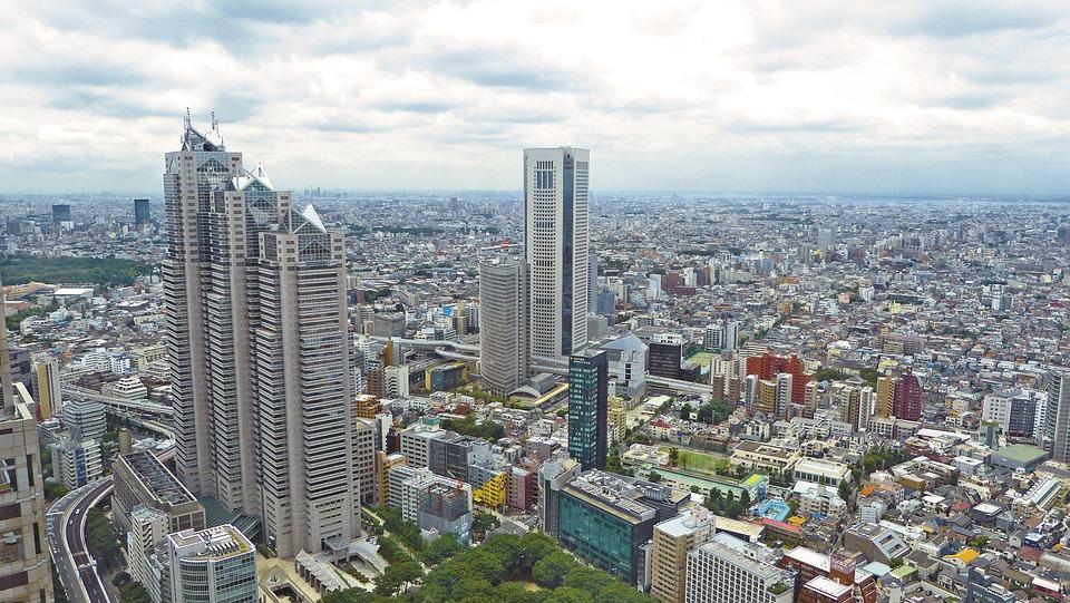 japan skyline cityscape