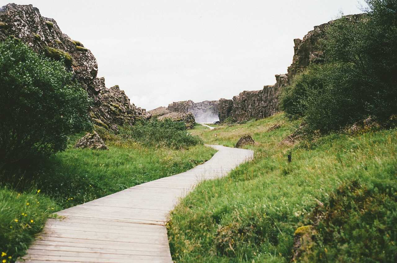 mountain trail in May Iceland