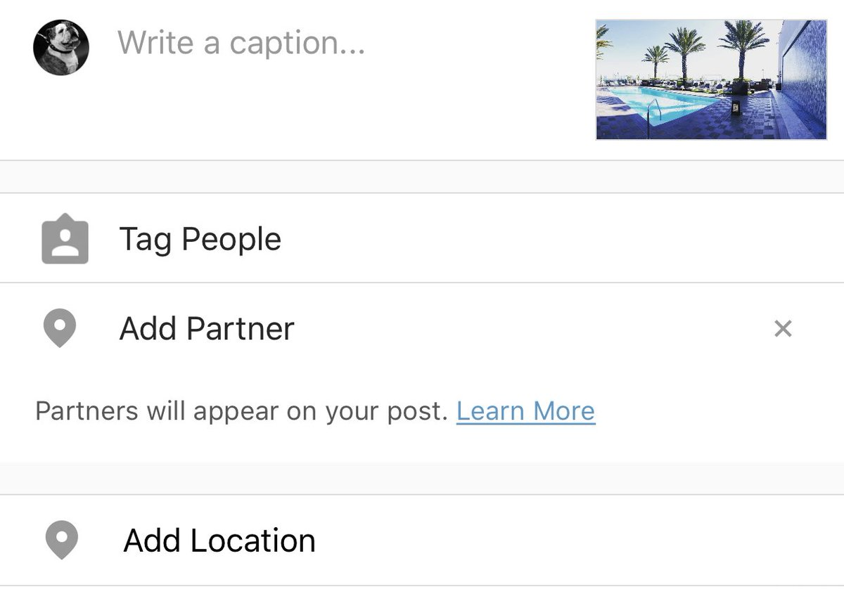 Instagram partner tagging brands feature
