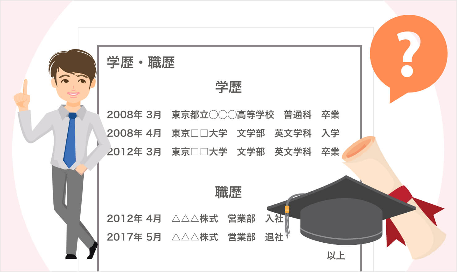 履歴書学歴欄の書き方マニュアル【経歴別の書き方例あり】 | JOBSHIL