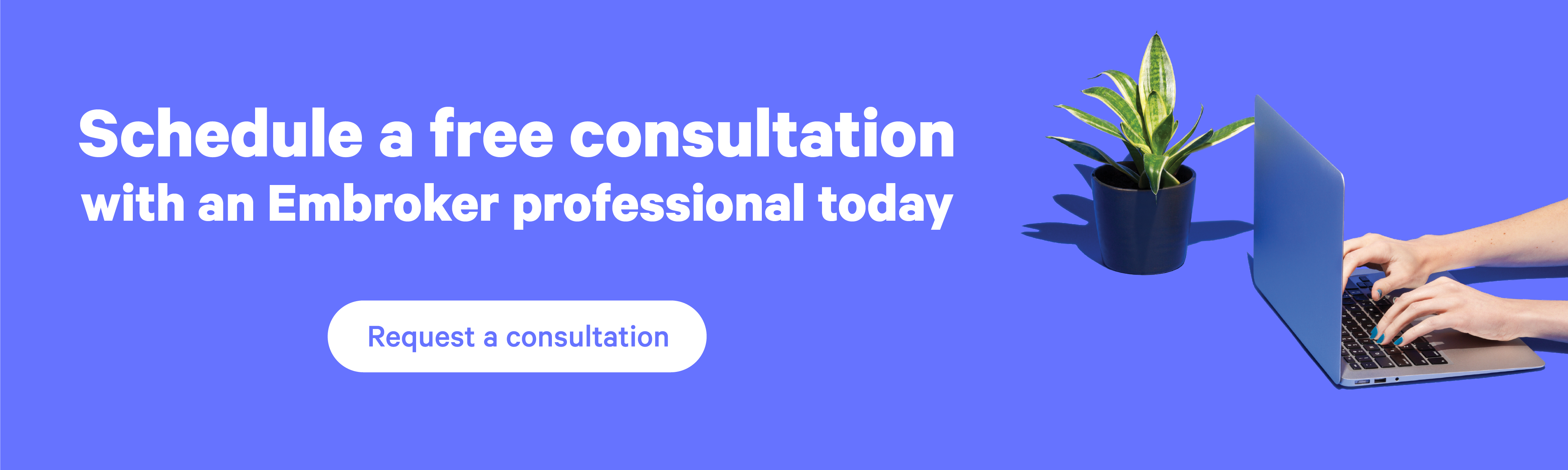 schedule a free consultation with an Embroker professional button