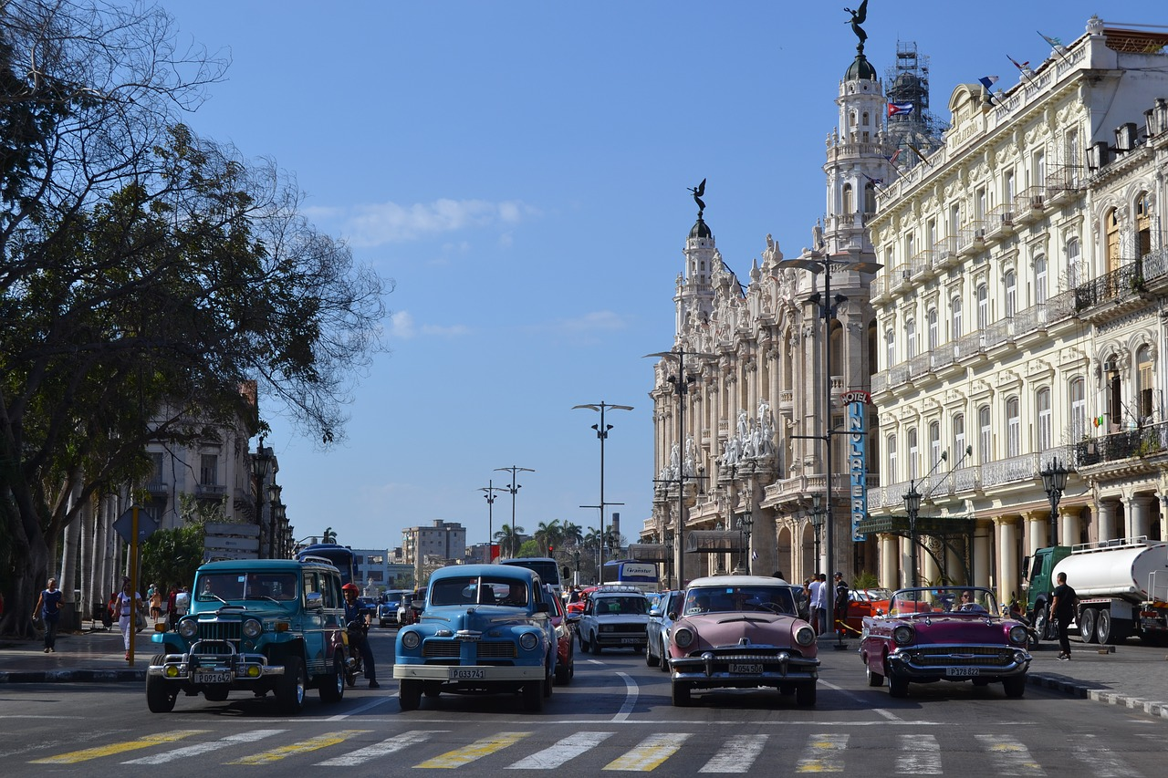 cars on streets in cuba
