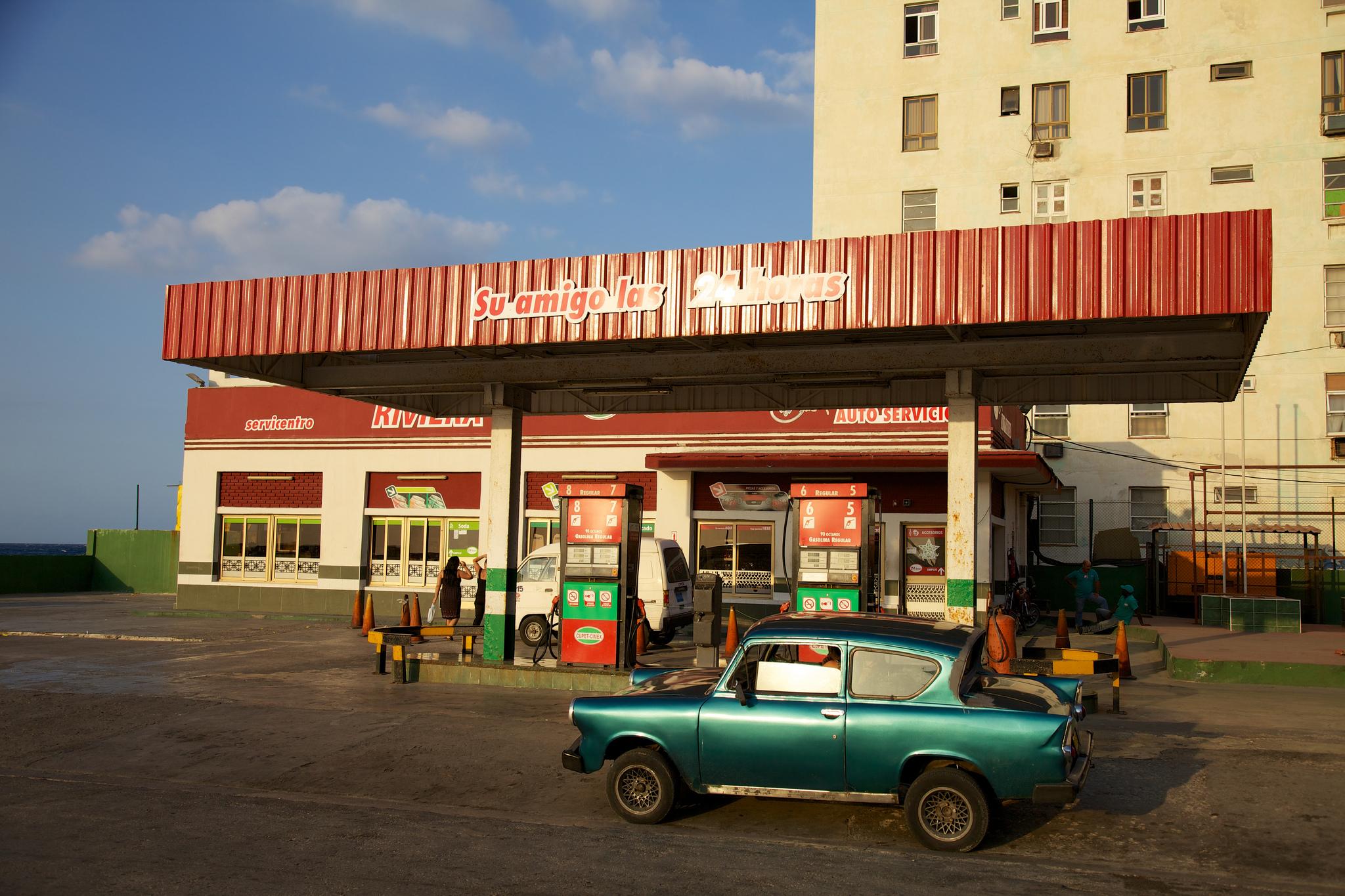 gas station in Cuba