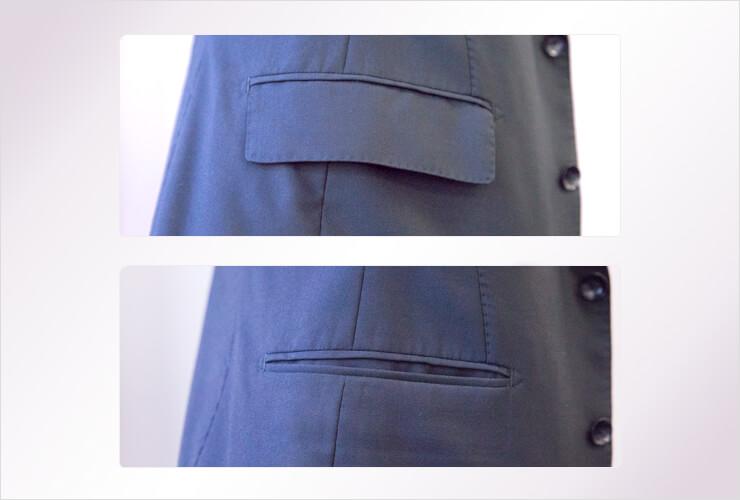 フラップというポケットの雨蓋